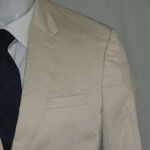 Burberry London 100% Cotton Two Button Suit 40S